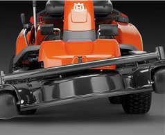 Husqvarna R318 mower with floating deck to reduce risk of scalping