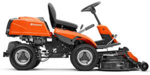Husqvarna R214T rider lawn mower side view