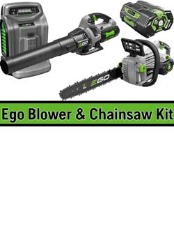 Ego chainswa and leaf blower special offer