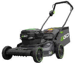 Ego LM2011E lawn mower viewed from the side