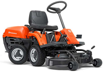 Husqvarna R112C rider lawn mower side view