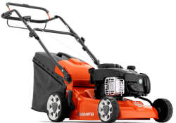 Husqvarna LC140S lawn mower viewed from the front