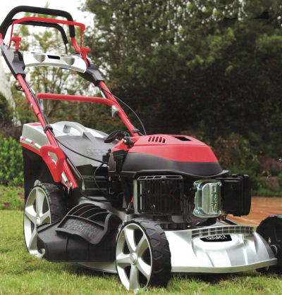 Legacy Lawnmower 515HLCE viewed in a garden