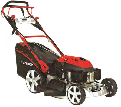 Legacy 48SHLB lawnmower showing the height adjuster