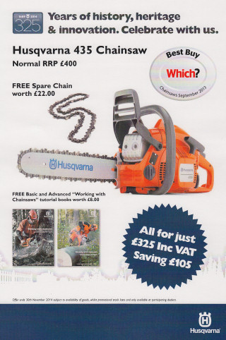 Husqvarna 435 chaisnaw offer