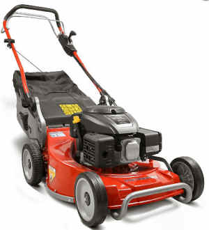 weibang wb536skal lawn mower with 22 inch cut viewed from the front